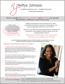 Nettye Johnson Speaker Onesheet