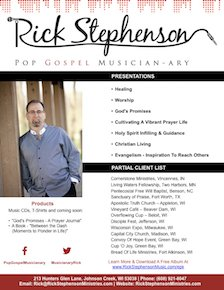 Rick Stephenson Onesheet