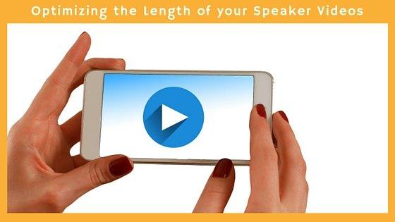 Optimizing the Length of your Speaker Videos