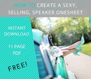 Crafting a Speaker Onesheet