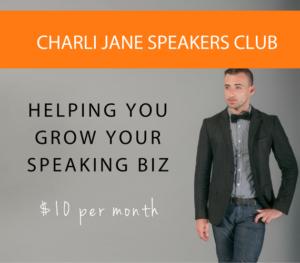 Charli Jane Speakers Club