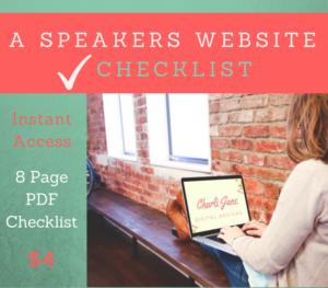 Speakers Website Checklist