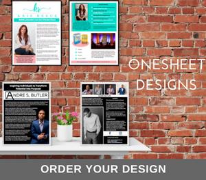 speaker onesheet designs