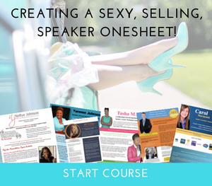 speaker onesheet course