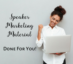 Speaker marketing material