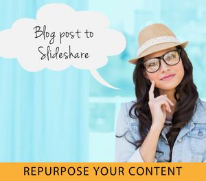 blog post to slideshare