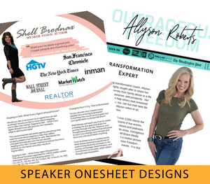 speakers onesheet designs