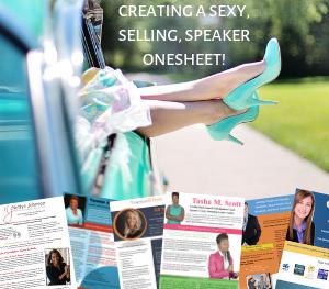 speaker onesheet design