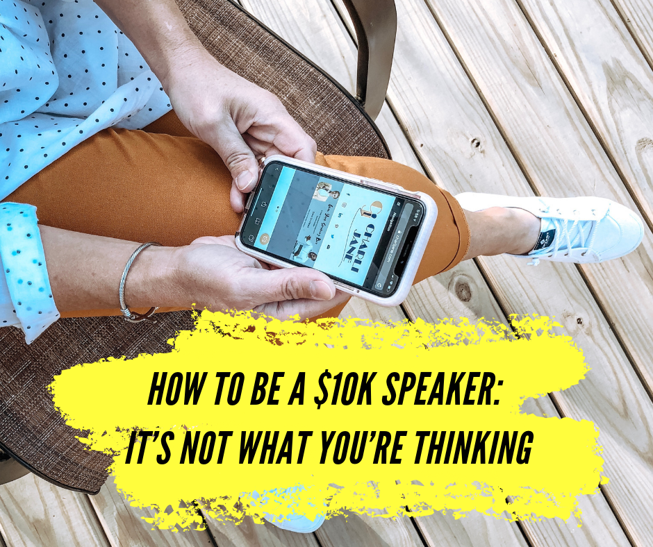 How to Be a $10K Speaker: It's Not What You're Thinking