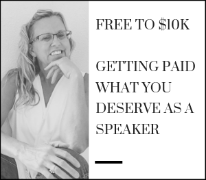free to 10K, Getting paid what you deserve as a speaker
