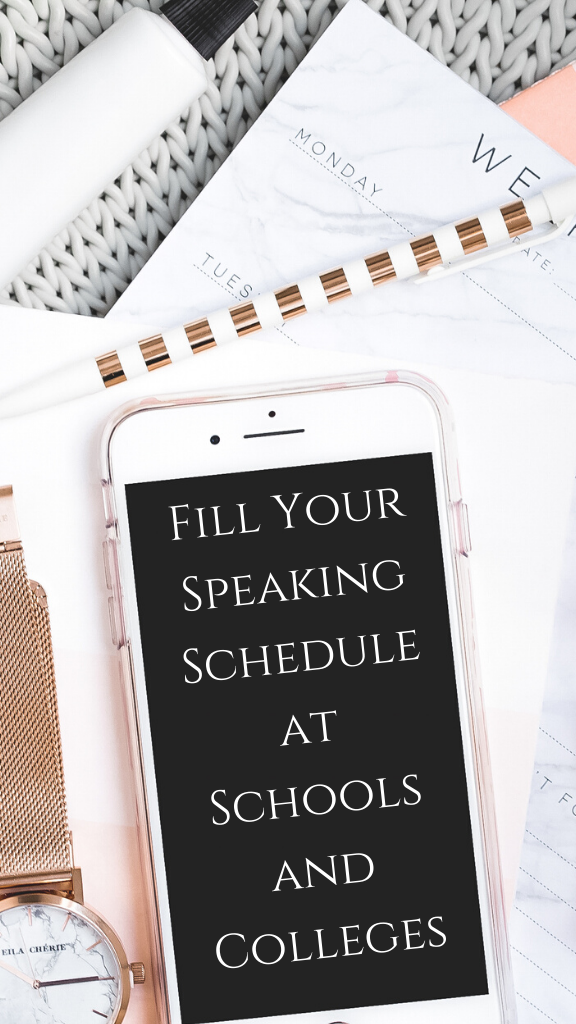 Fill Your Speaking Schedule at Schools and Colleges