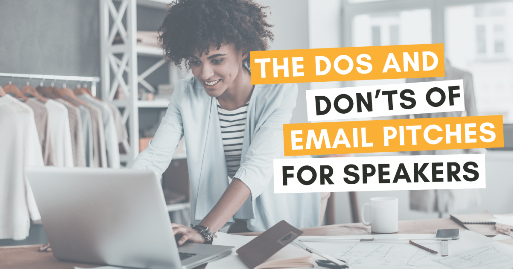 Email pitches for speakers