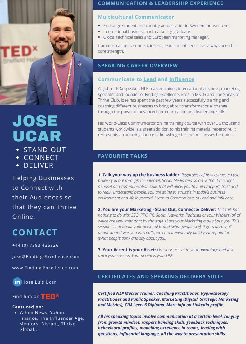 Jose Ucar Speaker