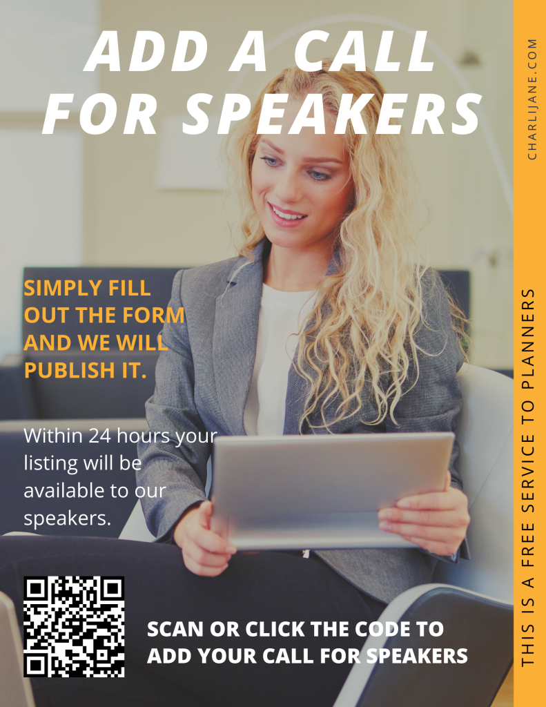 add call for speakers