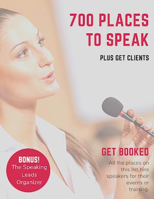 Get speaking gigs