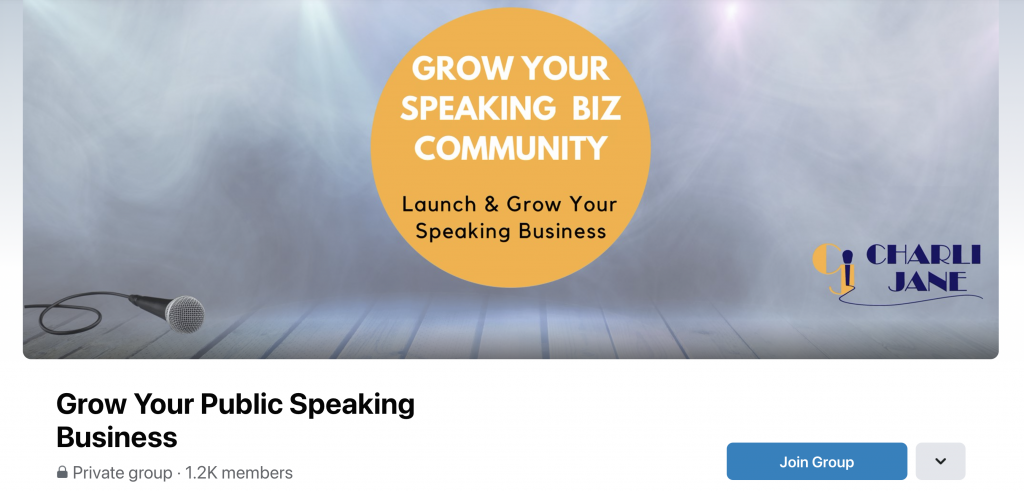 Grow Your Speaking Business FB Group