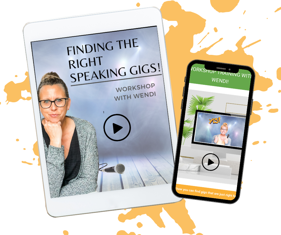 Finding speaking gigs