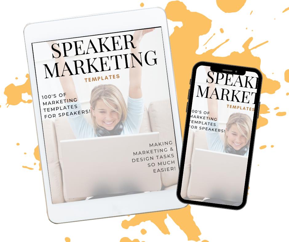 speaker marketing templates