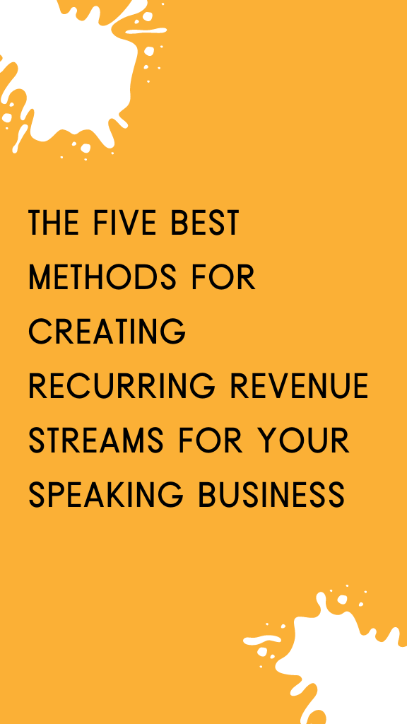 speaking income